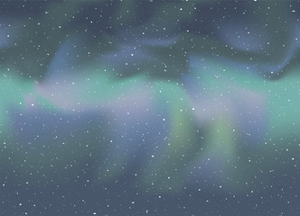 Nice northern lights in sky
