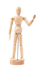 Wood Figure Model Manikin Mannequin Human Dummy Isolated on White Background