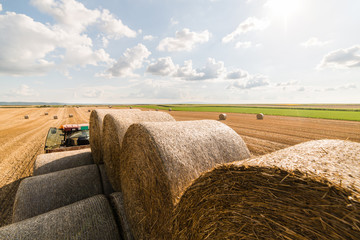 Wall Mural - Straw bales on tractor trailer