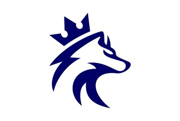 king wolf logo vector icon