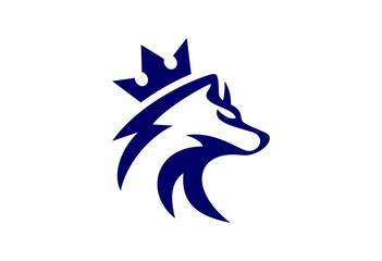 king wolf logo vector icon