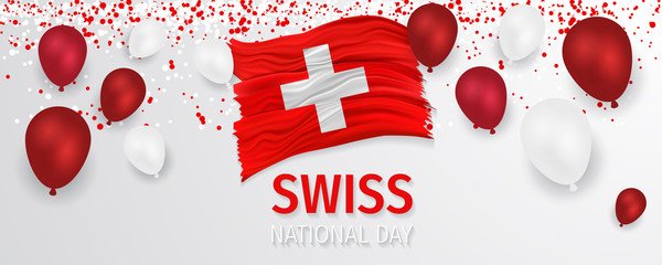 Swiss national day vector.