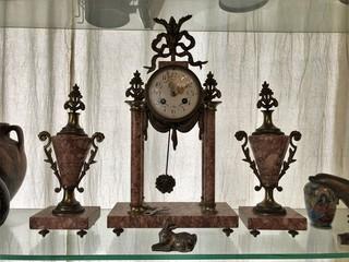 Vintage clocks in an antique shop in Balat