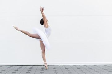 Ballerina in classic ballet position