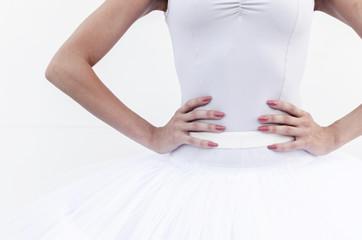 Ballerina standing with hands on waist