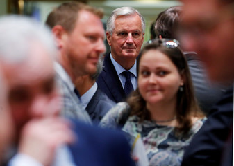 European Union's chief Brexit negotiator Michel Barnier attends an EU's General Affairs Council in Brussels