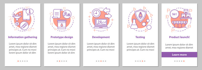 New product launch onboarding screen