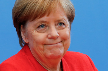 German Chancellor Angela Merkel holds the annual summer news conference in Berlin