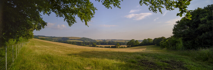 Summer view of St James the Evangelist Church, West Meon in the Meon Vally in the South Downs National Park, Hampshire, UK