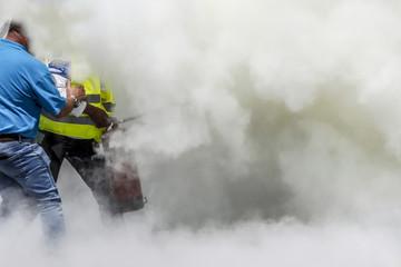 Extreme firefighting training