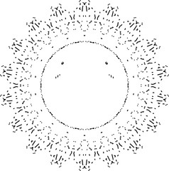 Sofly shiny sun mandala in black and white