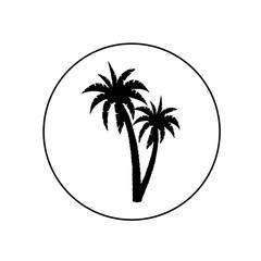 Palm tree icon, logo
