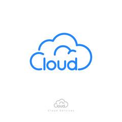 Cloud computing logo. Communication or network icon. Cloud computing logo. Communication or network icon.