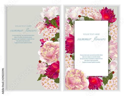 Vector banners set with summer flowerstemplate for greeting cards vector banners set with summer flowerstemplate for greeting cards wedding decorations invitation junglespirit Gallery