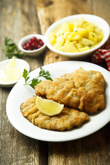 Classic Wiener Schnitzel with potato salad