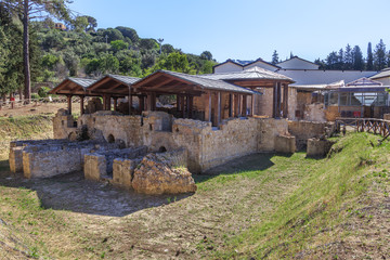 Villa Romana del Casale  located about 3 km from town of Piazza Armerina, Sicily. Excavations have revealed one of richest and larges collections of Roman mosaics in world.
