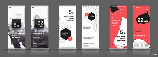Set of templates with a design of vertical banners. Wall mural