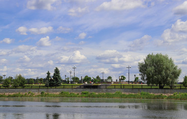 Summer day in the historic center of Yaroslavl