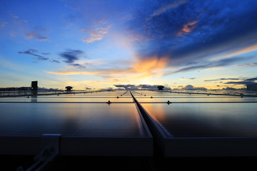 Solar PV Rooftop Beautiful Sky