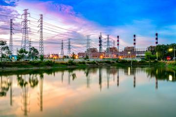 Keuken foto achterwand Kuala Lumpur Twilight photo of power plant