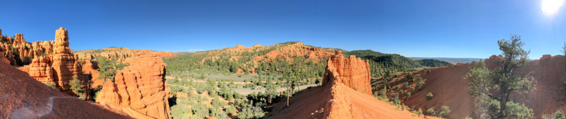 Fototapete - Panoramic view of Red Canyon, Utah