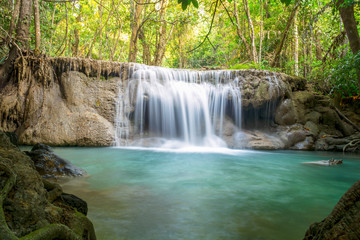 Printed roller blinds Waterfalls Huay Mae Kamin Waterfall , Kanchanaburi, Thailand