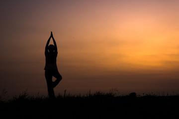 woman with yoga pose