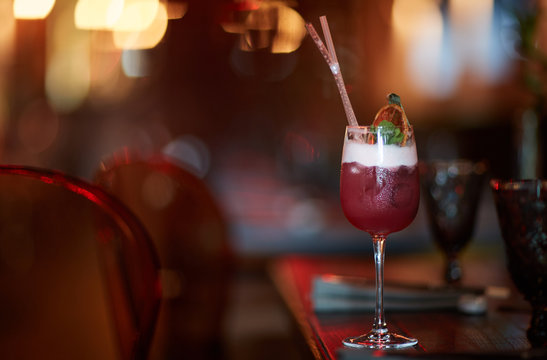 cocktail with strawberries