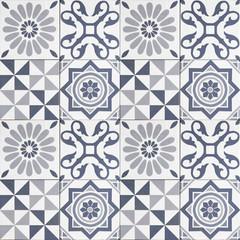 pattern tiles - geometric patchwork tile design -