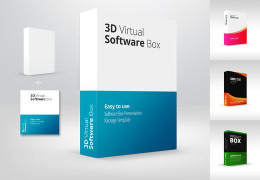 3D Product Box Mockup