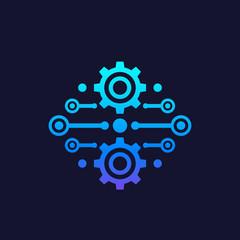 Integration, automation concept vector