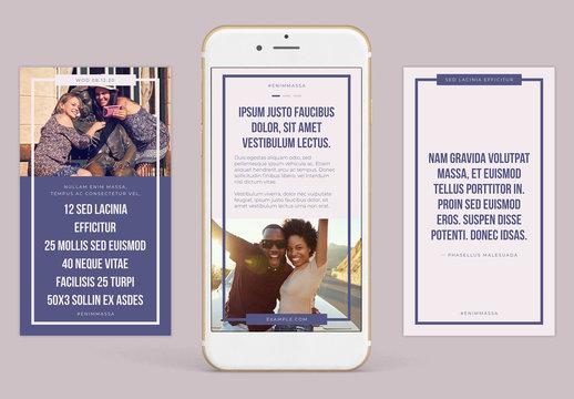 Cool Tones Instagram-Compatible Stories Set