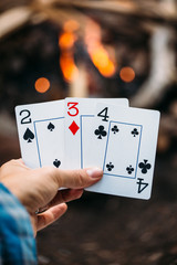 Playing Cards by Campfire