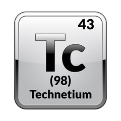 The periodic table element Technetium.Vector.