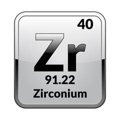 The periodic table element Zirconium.Vector.