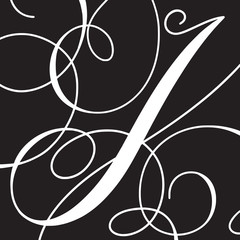 Calligraphy Initial Capital Letter I