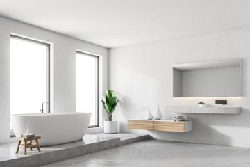 Luxury white bathroom corner