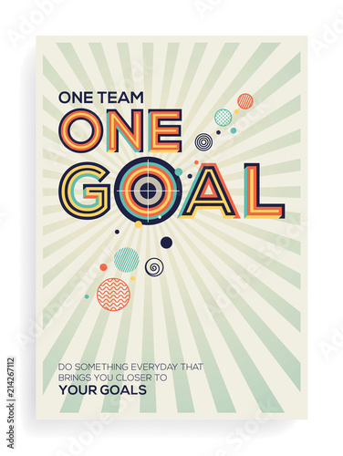 Goal Concept In Modern Typography Quote Geometrical Style Of For