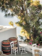 Santorini bar balcony, Greece