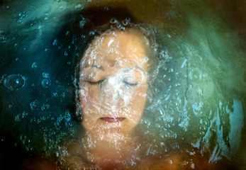 A Portrait of a Woman Underwater