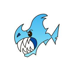 Shark open mouth. Vector illustration