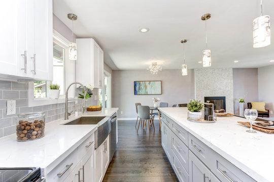 Gorgeous kitchen with open concept floorplan.