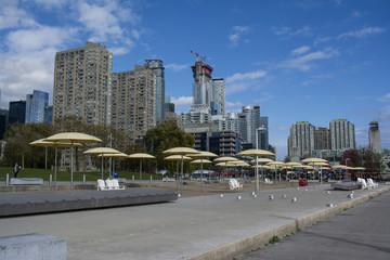 Toronto urban beach area