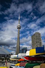 Toronto kayaks and tower