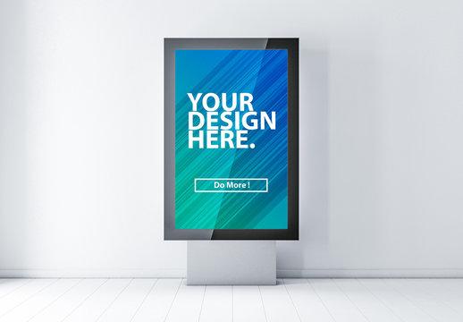 Billboard Lightbox on Stand Mockup