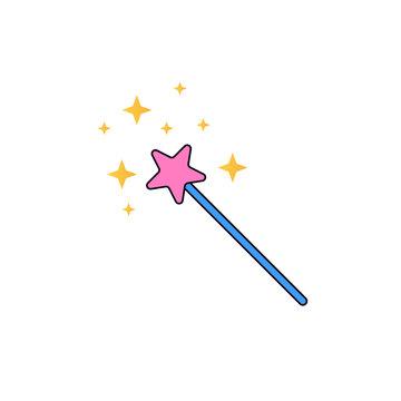 magic wand cartoon illustration