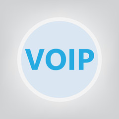 VOIP (Voice over Internet Protocol) concept- vector illustration