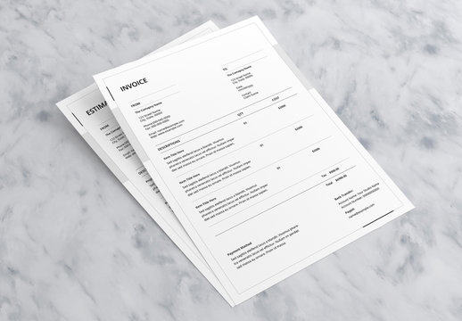Invoice and Estimate Layout