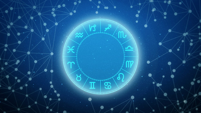 Astrology chart with signs