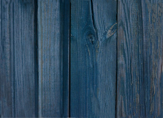 beautiful bright dark blue wooden wall, vintage background, texture